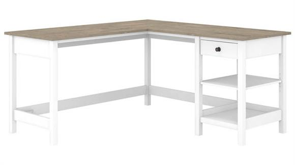 "L Shaped Desks Bush Furniture 60""W L-Shaped Computer Desk with Storage"