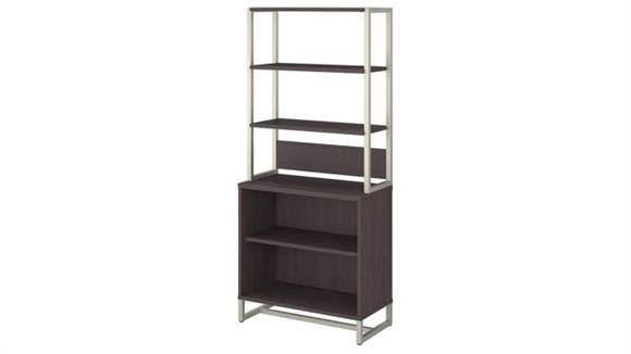 Bookcases Bush Furniture 2 Shelf Bookcase with Hutch
