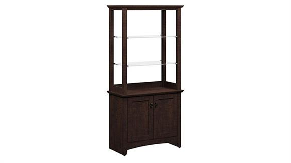 Bookcases Bush Furniture 2 Door Tall Library Storage