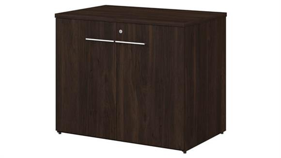 "Storage Cabinets Bush Furniture 36""W Storage Cabinet with Doors - Assembled"