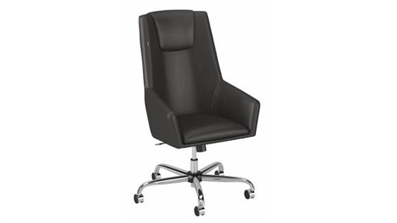 Office Chairs Bush Furniture High Back Leather Box Chair