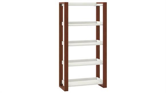 Bookcases Bush Furniture 5 Shelf Etagere Bookcase
