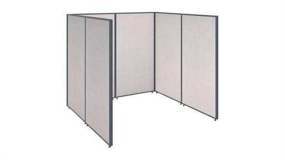 Office Panels & Partitions Bush Furniture Single Open Cubicle Office Panels