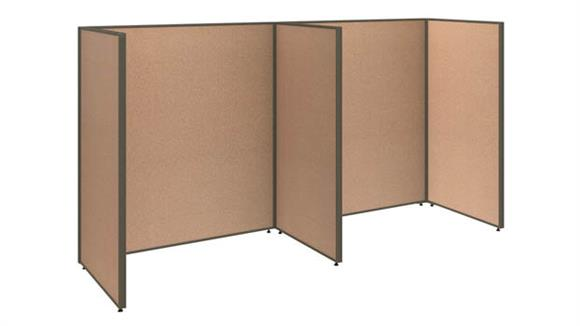Office Panels & Partitions Bush Furniture 2 Person Open Cubicle Office Panels