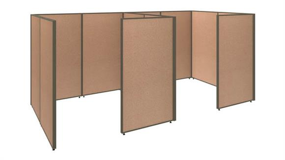 Office Panels & Partitions Bush Furniture 2 Person Closed Cubicle Office Panels