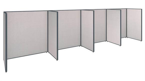 Office Panels & Partitions Bush Furniture 4 Person Open Cubicle Office Panels