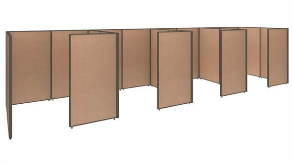 Office Panels & Partitions Bush Furniture 4 Person Closed Cubicle Office Panels