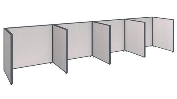"""Office Panels & Partitions Bush Furniture 192""""W x 36""""D x 42""""H 4 Person Open Cubicle Configuration"""
