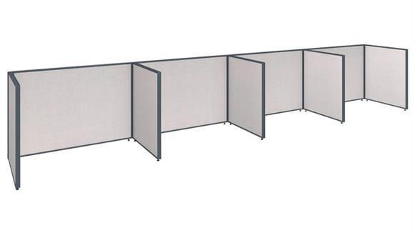 """Office Panels & Partitions Bush Furniture 240""""W x 36""""D x 42""""H 4 Person Open Cubicle Configuration"""