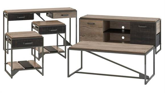 """Coffee Tables Bush Furniture 60""""W TV Stand with Console Table, Coffee Table and End Tables"""