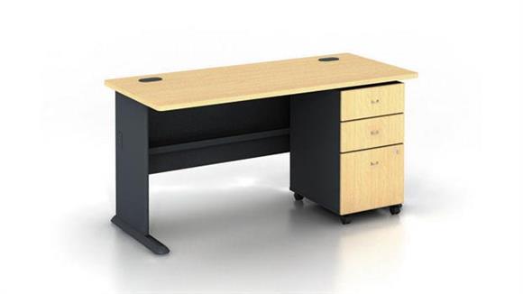 """Modular Desks Bush Furniture 60"""" Desk with Pedestal"""