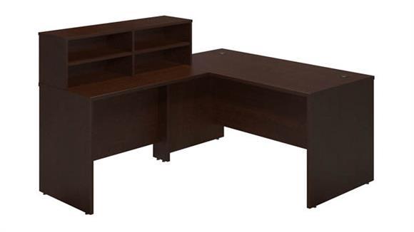 """Reception Desks Bush Furniture 60""""W x 72""""D Reception L Desk"""