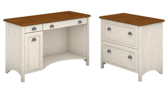 Computer Desks Bush Furniture Computer Desk with 2 Drawer Lateral File Cabinet