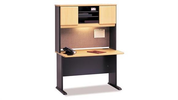 "Modular Desks Bush Furniture 48"" Desk with Hutch"