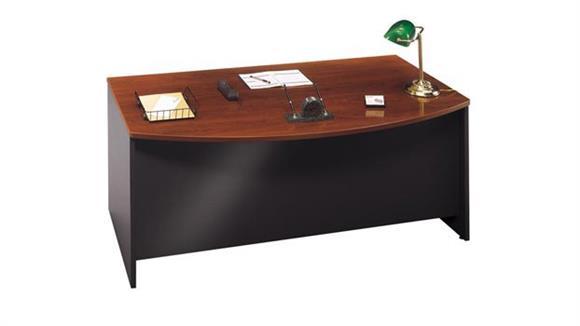"""Executive Desks Bush Furniture 72""""W x 36""""D Bow Front Desk"""