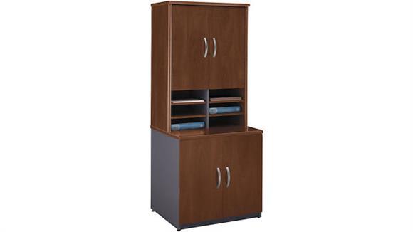 Storage Cabinets Bush Furniture Storage Cabinet with Hutch