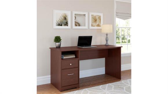 "Computer Desks Bush Furniture 60""W Computer Desk with Drawers"