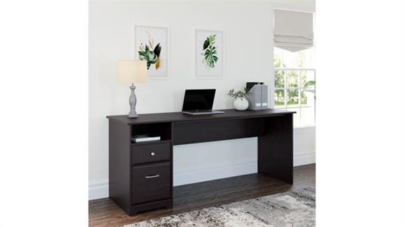 "Computer Desks Bush Furniture 72""W Computer Desk with Drawers"