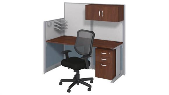 Workstations & Cubicles Bush Furniture Workstation with Storage & Chair