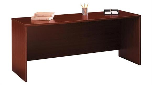 "Executive Desks Bush Furniture 72""W x 24""D Desk/Credenza/Return"