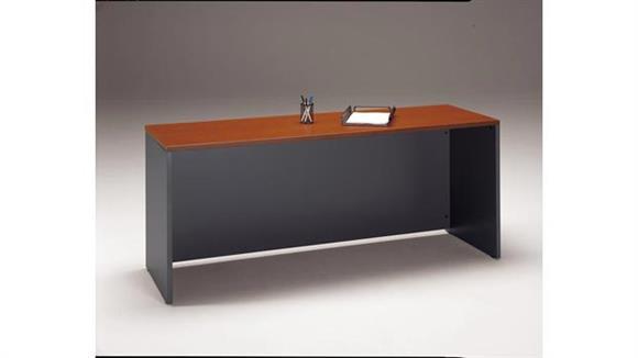 "Executive Desks Bush Furniture 72""W x 24""D Desk/Credenza/Return"