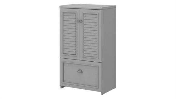 Storage Cabinets Bush Furniture 2 Door Storage Cabinet with File Drawer