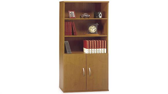 Bookcases Bush Furniture Open Double Bookcase with Doors