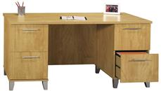 "Executive Desks Bush Furniture 60"" Double Pedestal Desk"