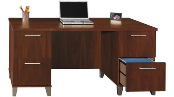 "Executive Desks Bush Furniture 60"" Double Pedestal Desk"