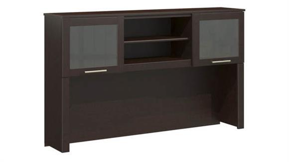 "L Shaped Desks Bush Furniture 60"" Hutch"