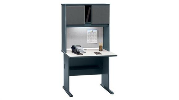 "Modular Desks Bush Furniture 36"" Desk with Hutch"