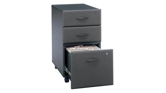 Mobile File Cabinets Bush Furniture 3 Drawer Mobile File - Fully Assembled