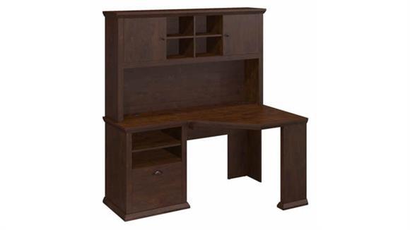 "Corner Desks Bush Furniture 60""W Corner Desk with Hutch"