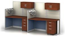 Workstations & Cubicles Bush Furniture Set of 2 Workstations with Storage