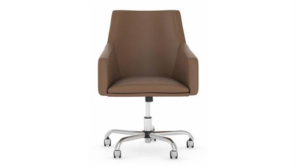 Office Chairs Bush Furnishings Mid Back Leather Box Chair