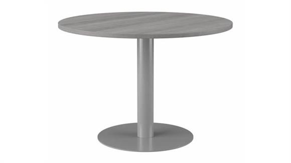 """Conference Tables Bush Furnishings 42""""W Round Conference Table with Metal Disc Base"""
