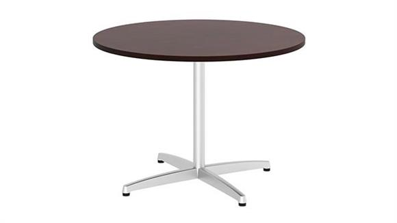 "Conference Tables Bush Furnishings 42""W Round Conference Table with Metal X Base"