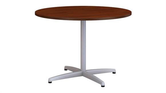 """Conference Tables Bush Furnishings 42""""W Round Conference Table with Metal X Base"""