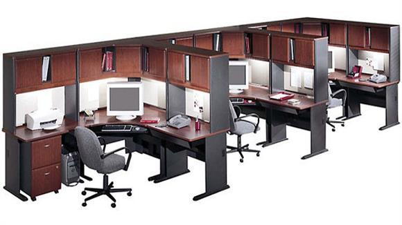 Workstations & Cubicles Bush Furnishings Set of 3 Workstations