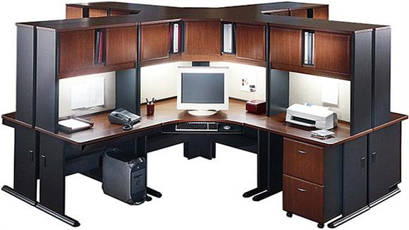 Workstations & Cubicles Bush Furnishings 4 Person Workstation