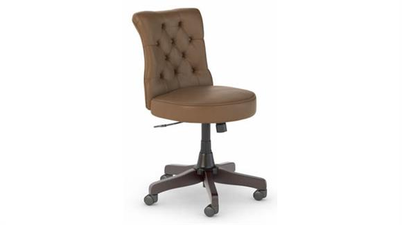 Office Chairs Bush Furnishings Mid Back Tufted Leather Office Chair