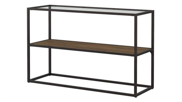 Console Tables Bush Furnishings Glass Top Console Table