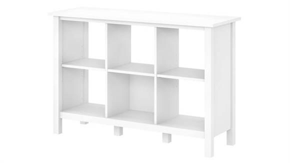 Bookcases Bush Furnishings 6 Cube Storage Bookcase