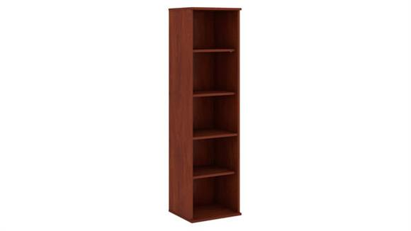 "Bookcases Bush Furnishings 66""H Five Shelf Narrow Bookcase"