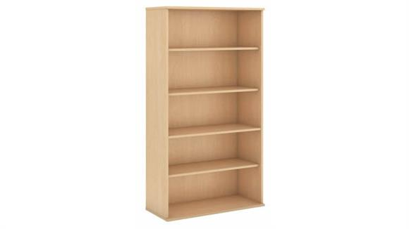 "Bookcases Bush Furnishings 72""H Five Shelf Bookcase"