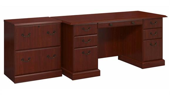"Executive Desks Bush Furnishings 66""W Manager"