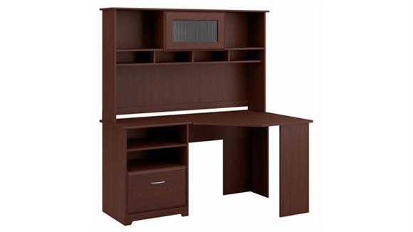 "Corner Desks Bush Furnishings 60"" W Corner Desk with Hutch"