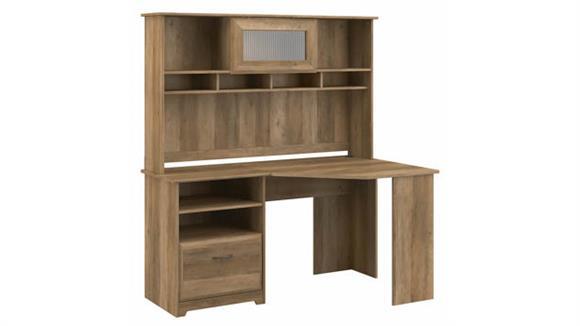 "Corner Desks Bush Furnishings 60""W Corner Desk with Hutch"