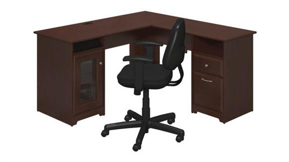 L Shaped Desks Bush Furnishings L Shaped Desk and Office Chair