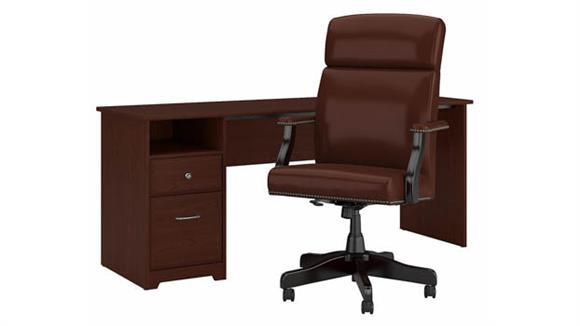 "Computer Desks Bush Furnishings 72"" W Computer Desk and Chair Set"